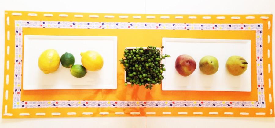 TB Orange Table Runner, Let's Fête