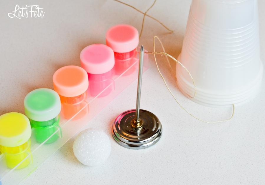 Let's Fête Neon Ball Garland Supplies