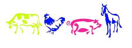 Let's Fête neon farm animals