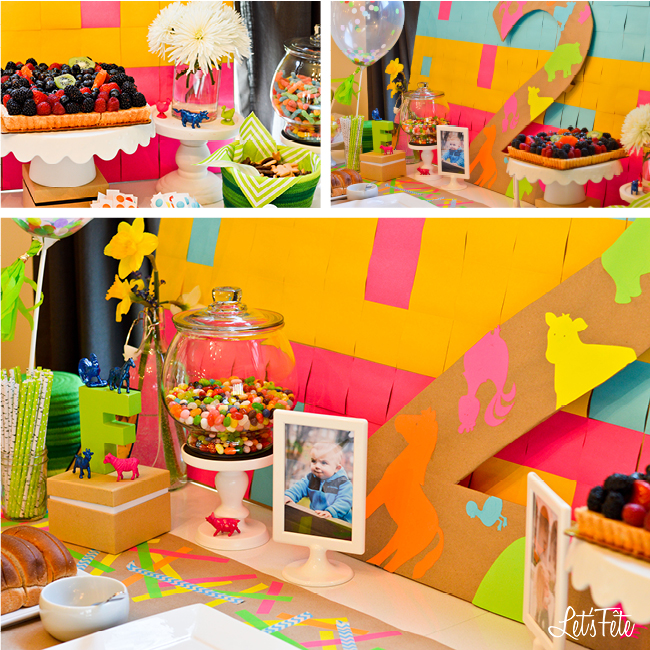 Let's Fête Neon Farm Birthday Decor 1