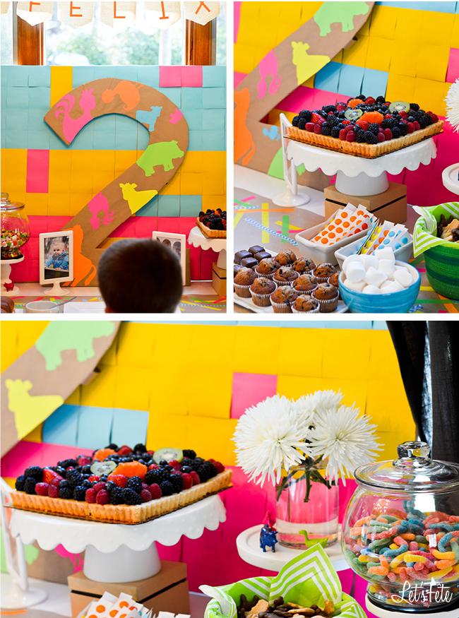 Let's Fête Neon Farm Birthday Decor 2