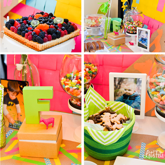 Let's Fête Neon Farm Birthday Decor 3