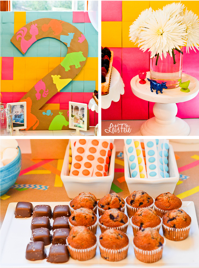 Let's Fête Neon Farm Birthday Decor 4