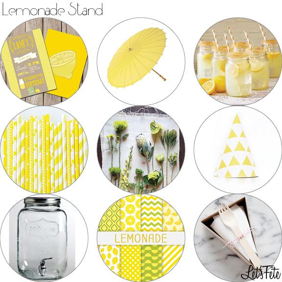 Let's Fête Lemonade Stand Inspo Board
