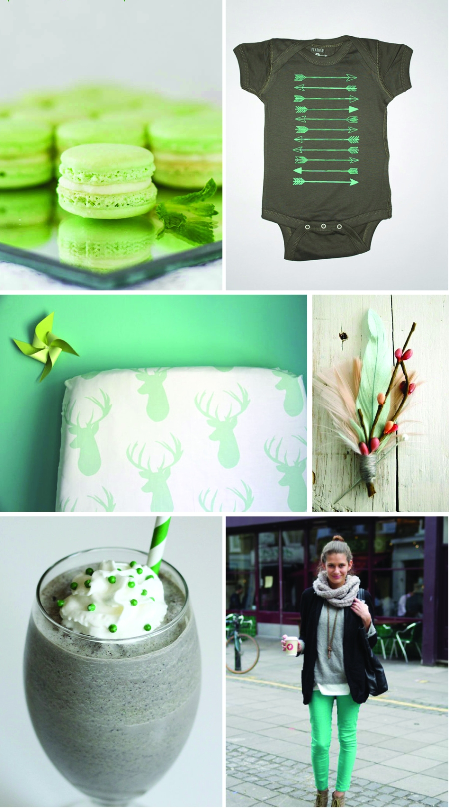 Let's Fête mint and gray color palette