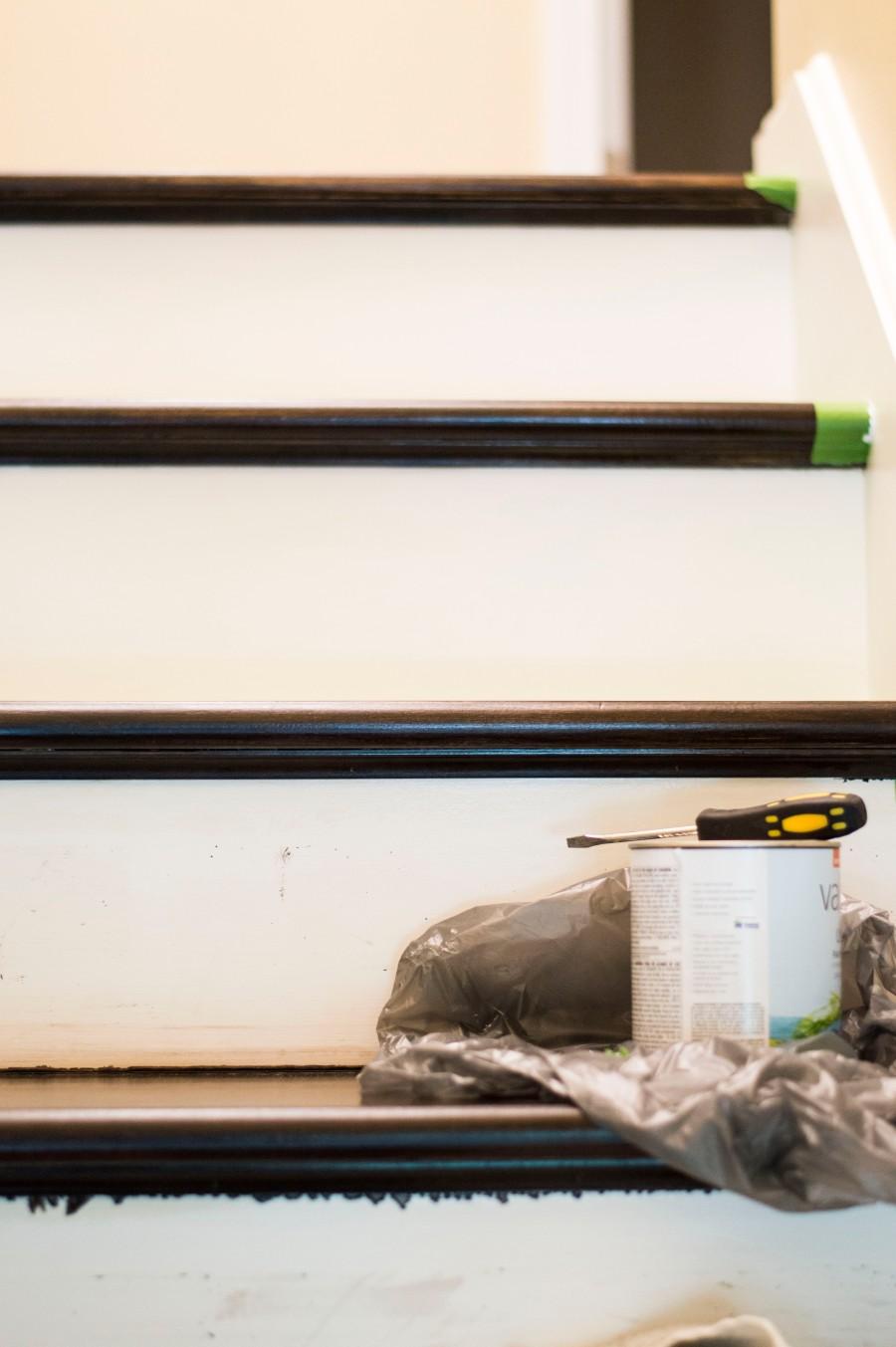 Let's Fête stair trim painting_2