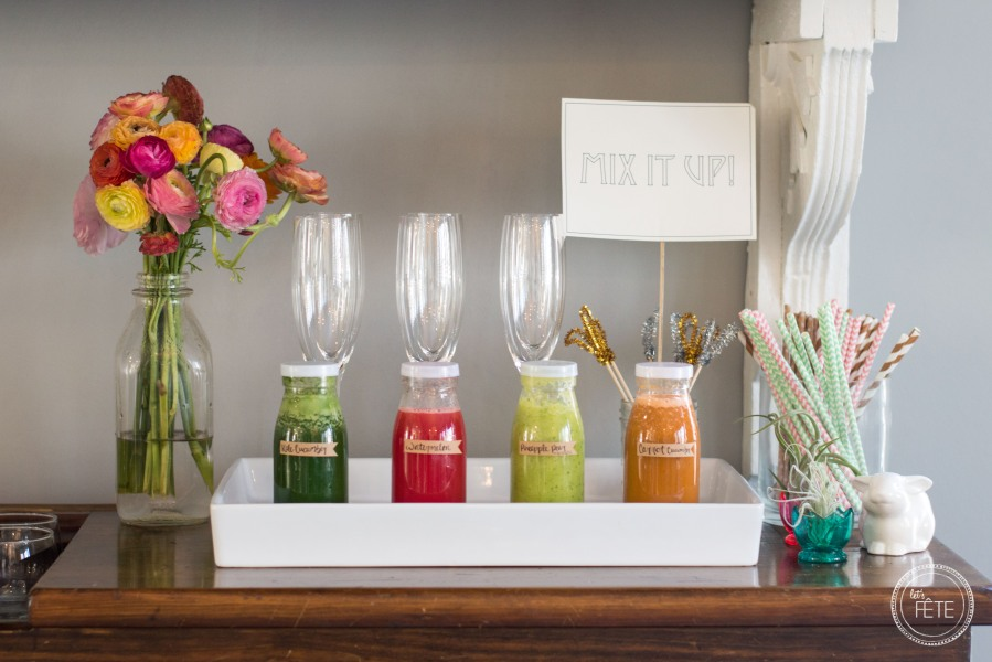 Let's Fête Fresh Juice Mimosa Tasting