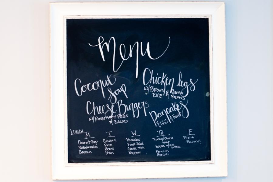 meal planning menu 8