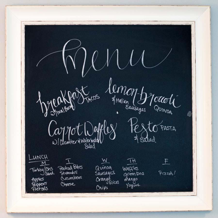 meal planning menu