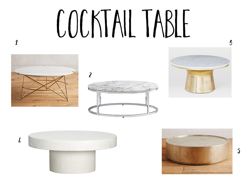 cocktail table ideas